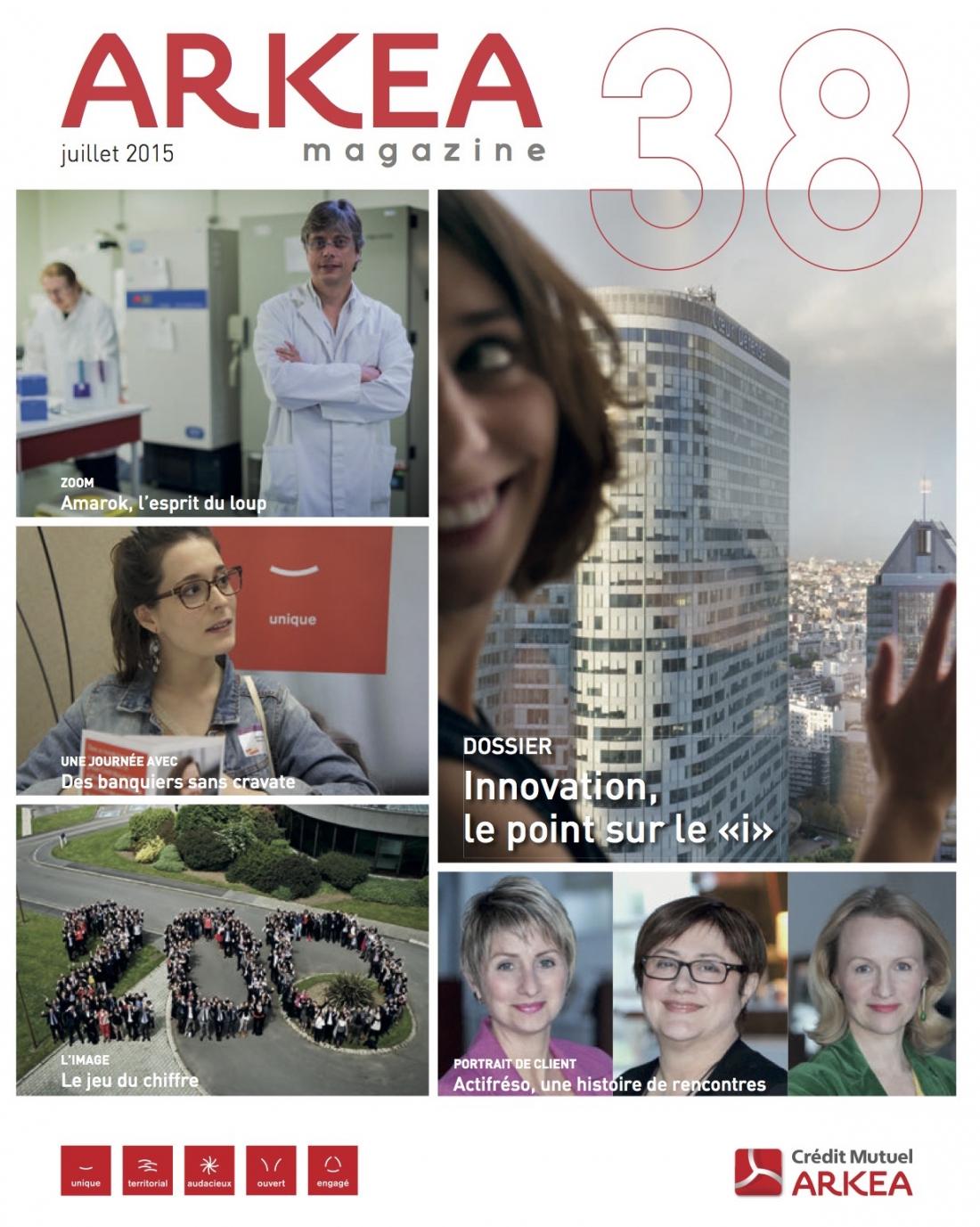 Interview Arkéa Magazine juillet 2015