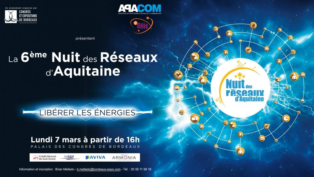 6e Nuit des Réseaux d'Aquitaine sur le thème Libérer les énergies